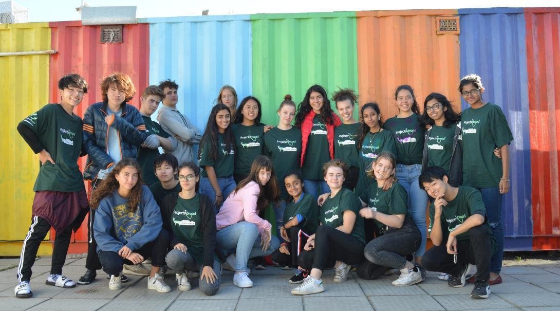 A group of high school students volunteer abroad together in South Africa.